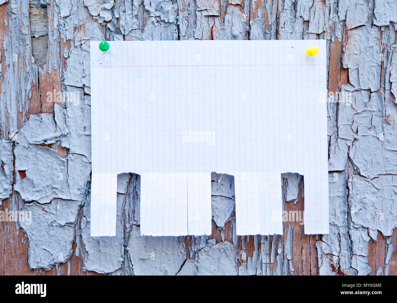 blank white paper with tear off tabs stock photo 188712510 alamy