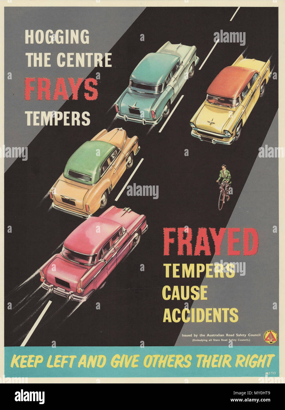 Frayed Tempers Cause Accidents Road Safety Poster Circa 1939 1959 Road Safety Ever Have A Close Shave Not With A Razor But Almost A Road Eraser When You Have Been Aware