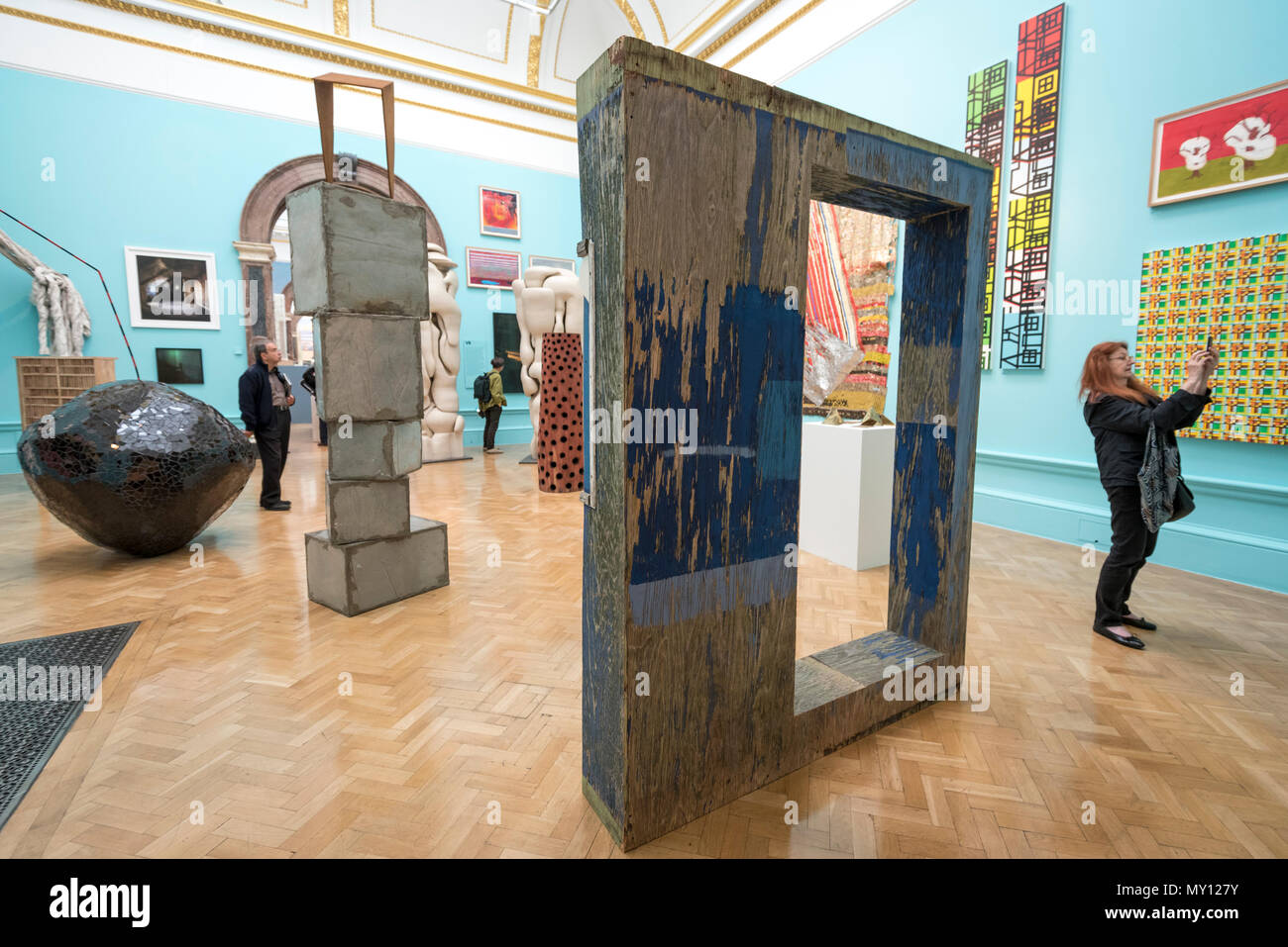 London, UK.  5 June 2018. Sculptures of all sizes at the preview of the 250th Summer Exhibition at the Royal Academy of Arts in Piccadilly, which has been co-ordinated by Grayson Perry RA this year.  Running concurrently, is The Great Spectacle, featuring highlights from the past 250 years.  Both shows run 12 June to 19 August 2018. Credit: Stephen Chung / Alamy Live News - Stock Image