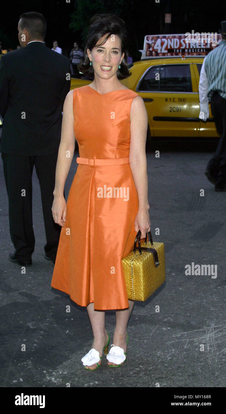 New York New York Usa 7th June 2001 Handbag Fashion Designer Kate Spade At The Fresh Air Fund Salutes American Heroes Gala Held At The Tavern On The Green Credit Nancy Kaszerman Zuma