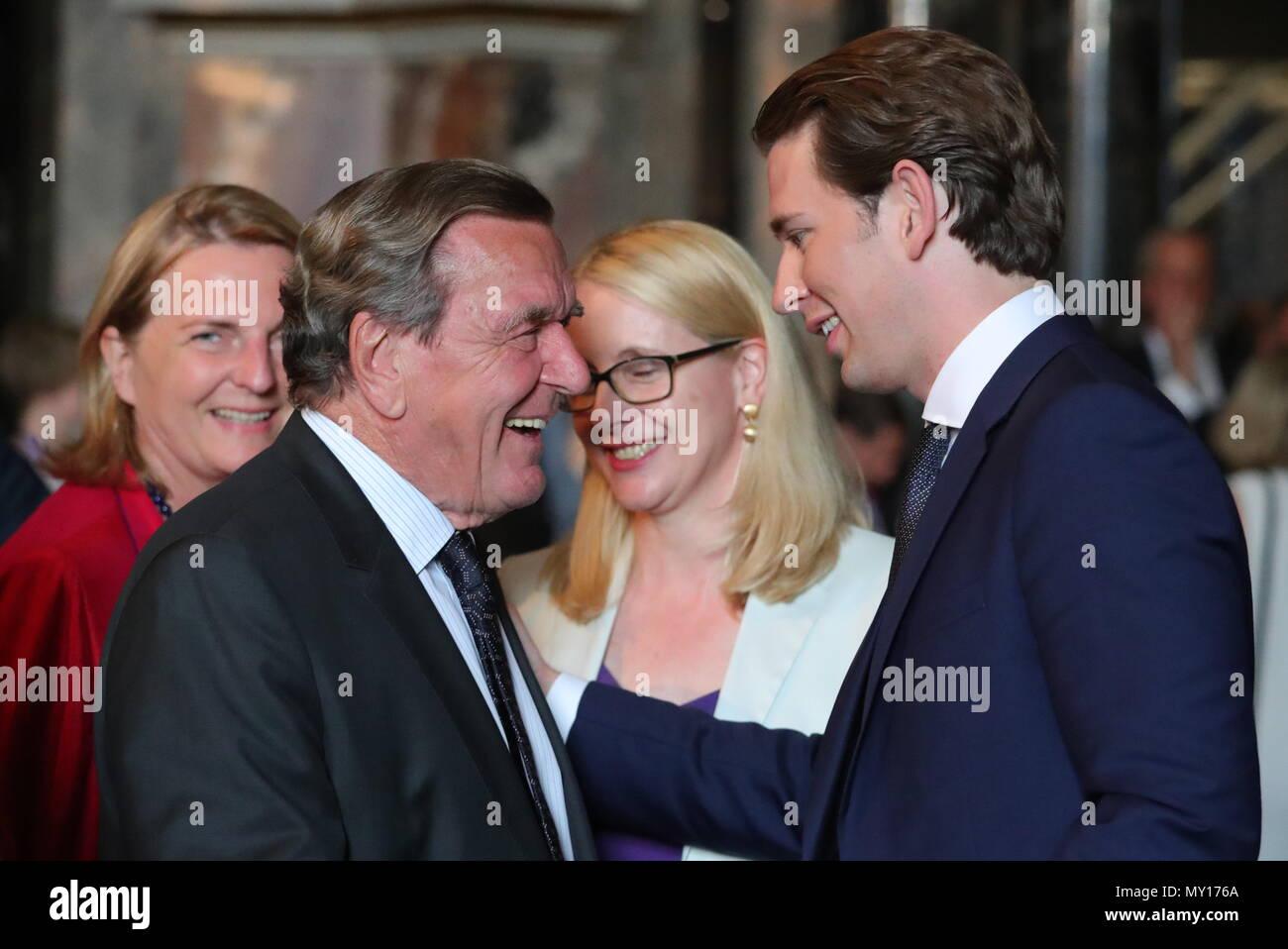 vienna austria june 5 2018 former chancellor of the federal republic of - Gerhard Schroder Lebenslauf