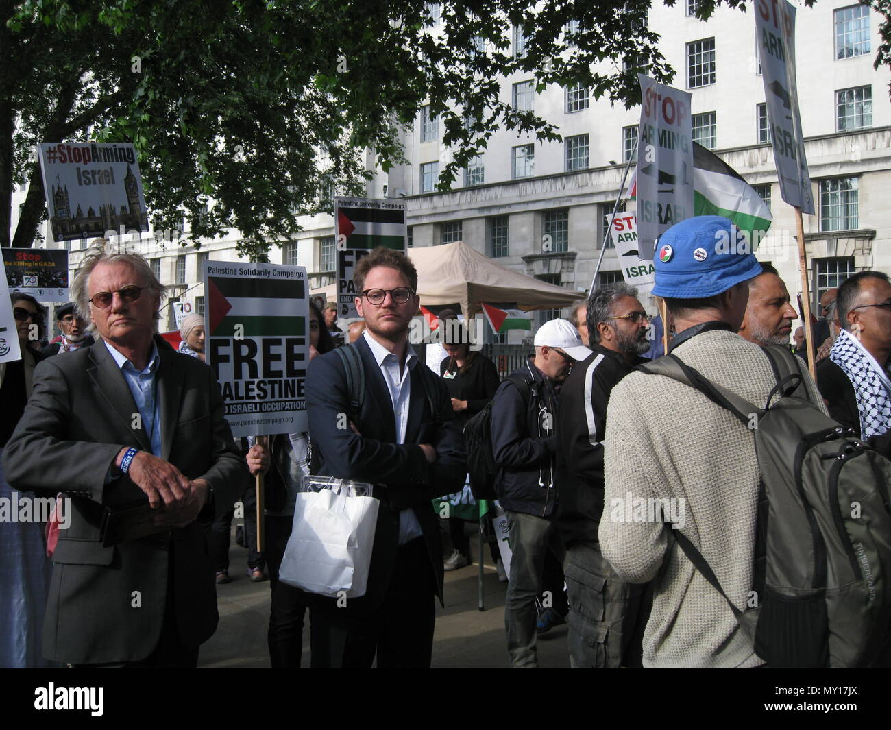 London UK - 05 June, 2018: People in the street at Free Palestine – Stop the Killing – Stop Arming Israel Event as editorial Credit: Stefania Arca/Alamy Live News Stock Photo