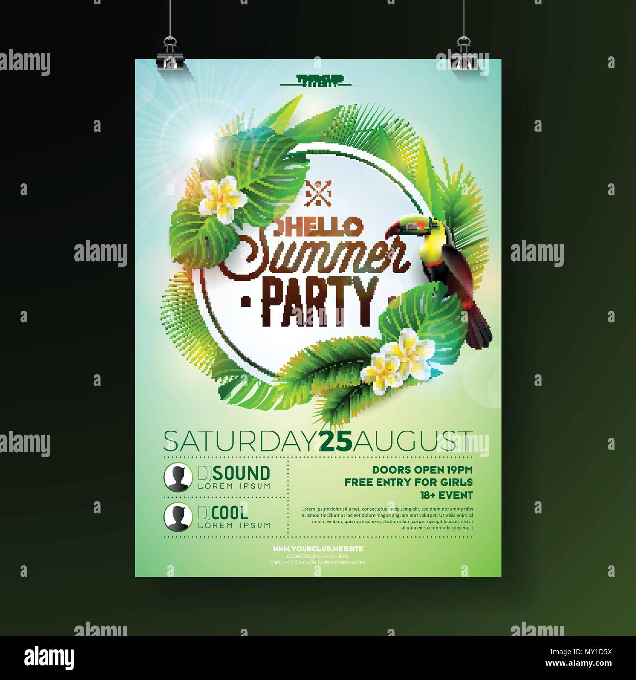 party brochure template 25 free photoshop party flyer templates ...