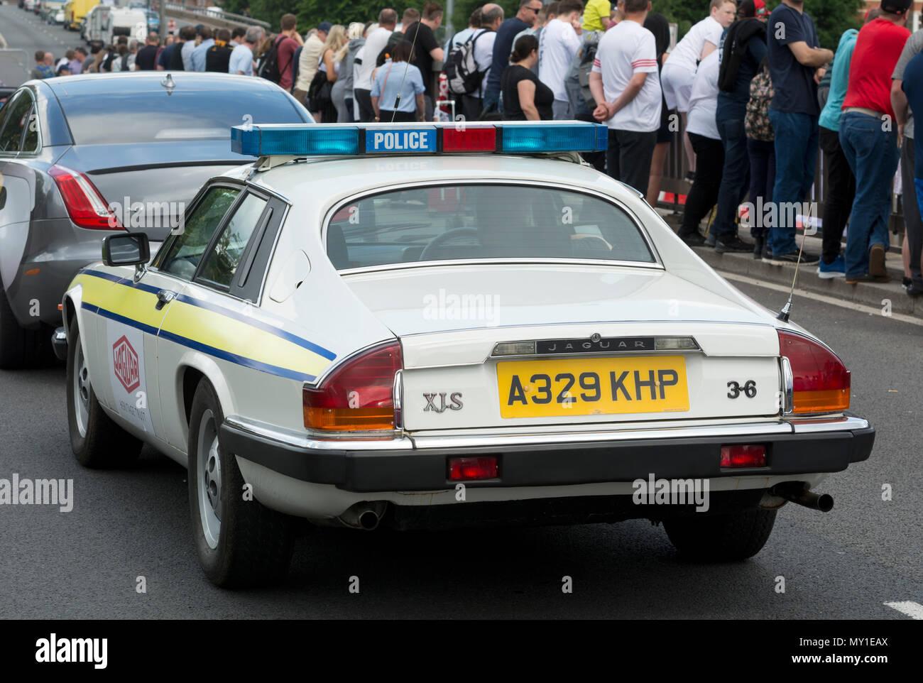 Jaguar 3.6 XJ-S former police car - Stock Image