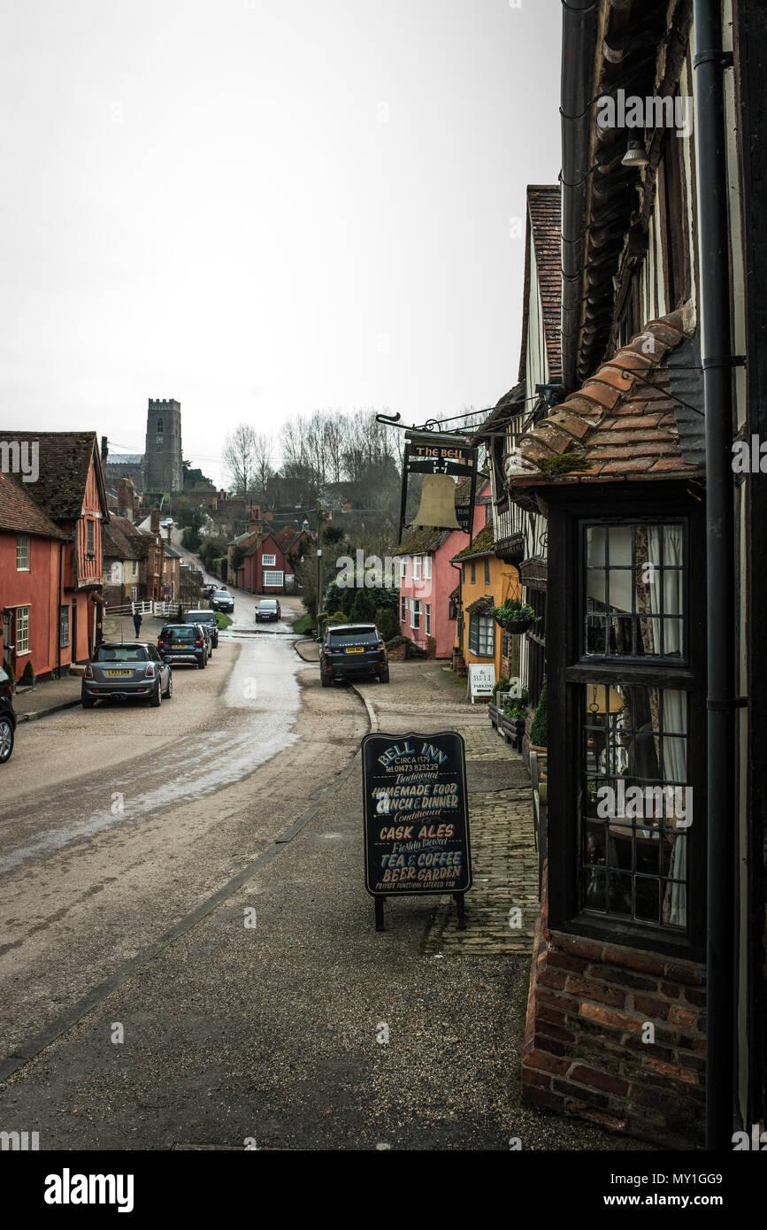 Photographs of Kersey village near Ipswich, Suffolk, UK - Stock Image