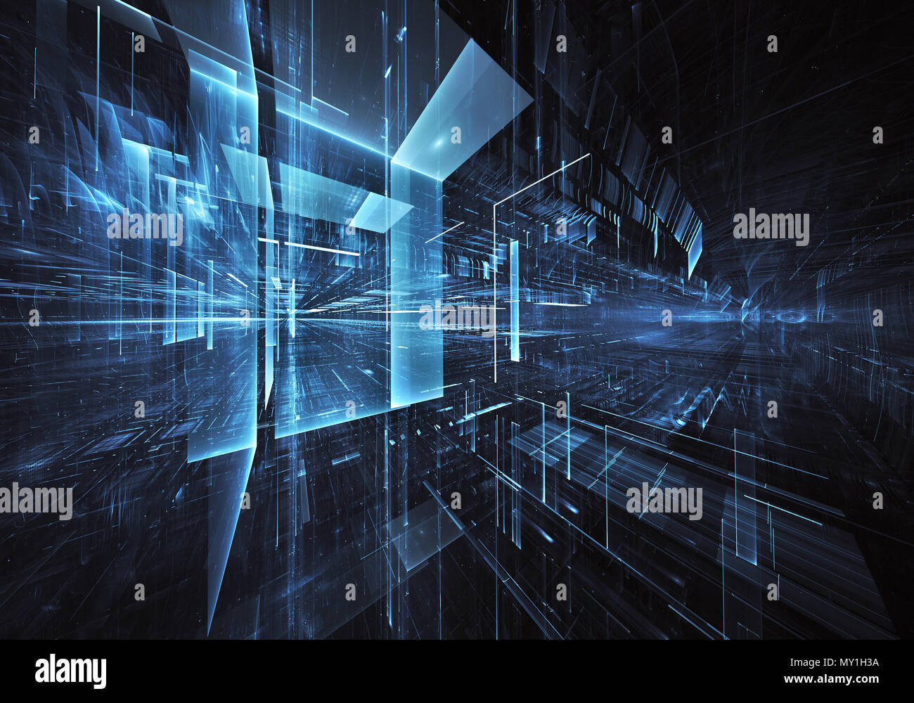 Abstract Technology Background With Light Effect: Abstract Future Technology Background