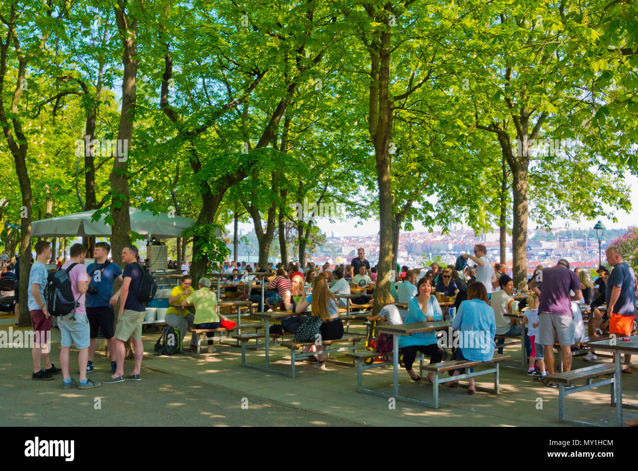 Letenske sady, Letna park, Prague, Czech Republic Stock Photo