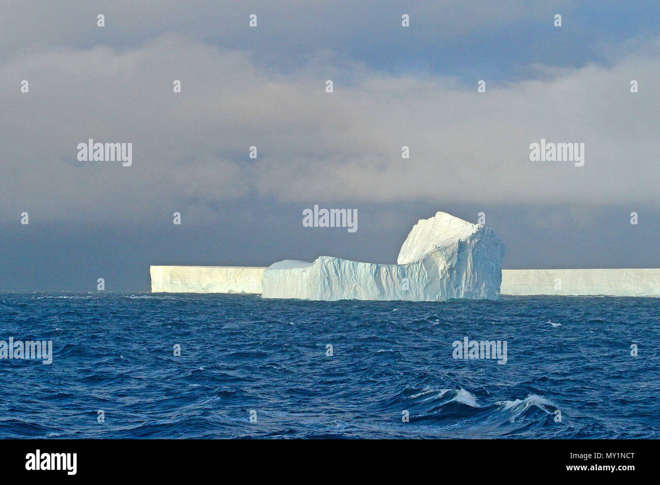 Drifting iceberg, Orkney Islands, Drake Passage,Antarctic peninsula, Antarctica - Stock Image