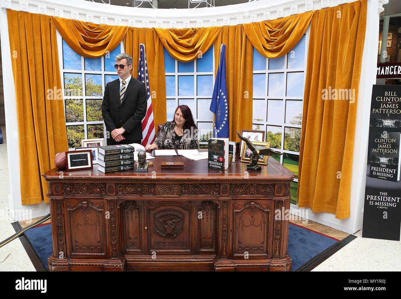 Oval Office comes to Waterloo courtesy of PRH / The Bookseller - Stock Image
