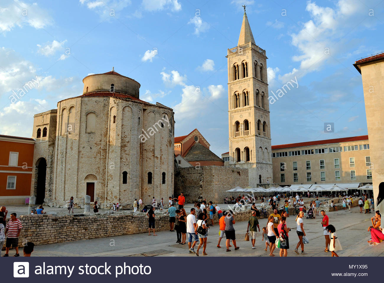 Church of St. Donatus is a church located in Zadar, Croatia Stock Photo