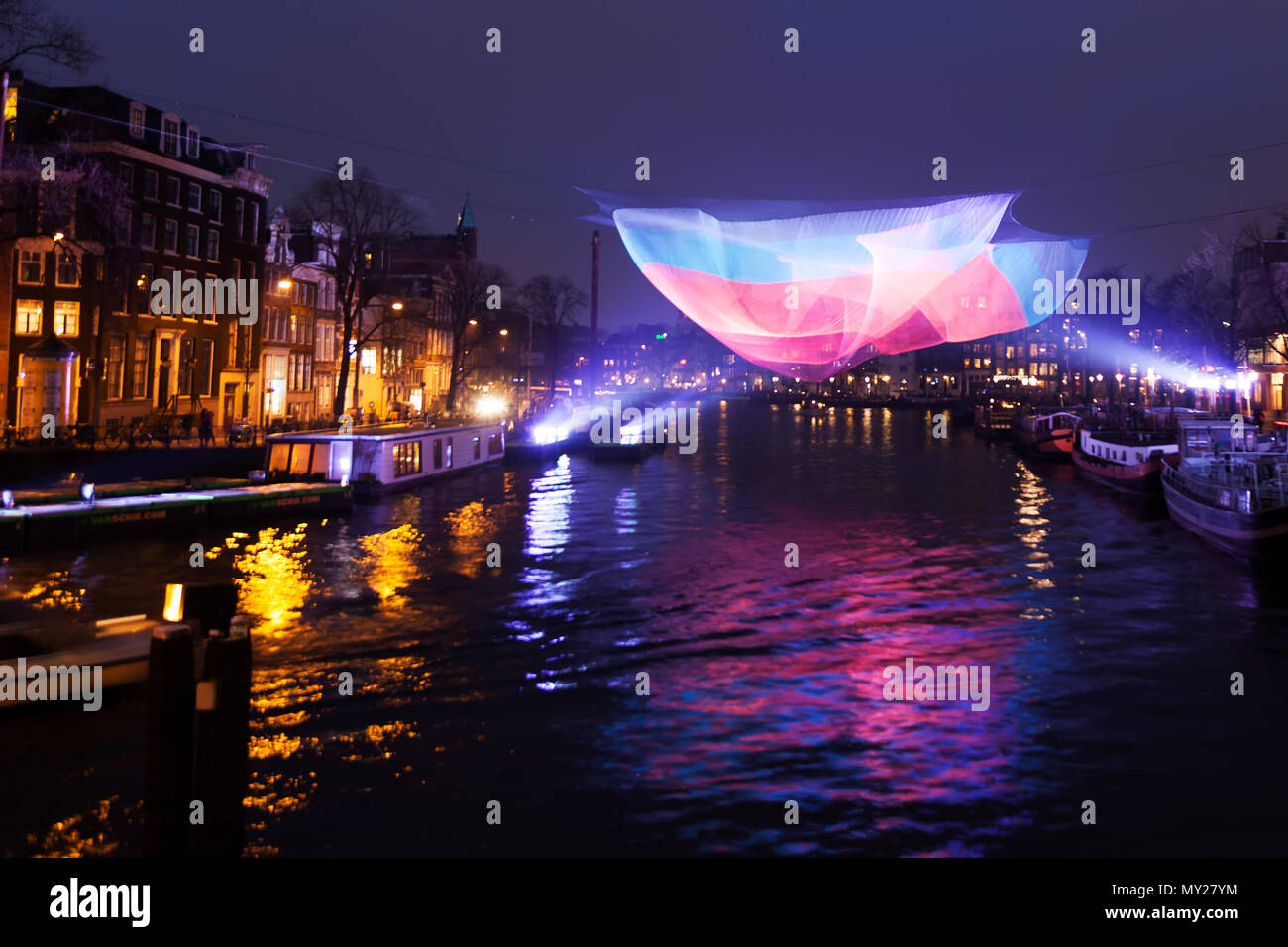 amsterdam light festival a yearly event in the winter in the dutch