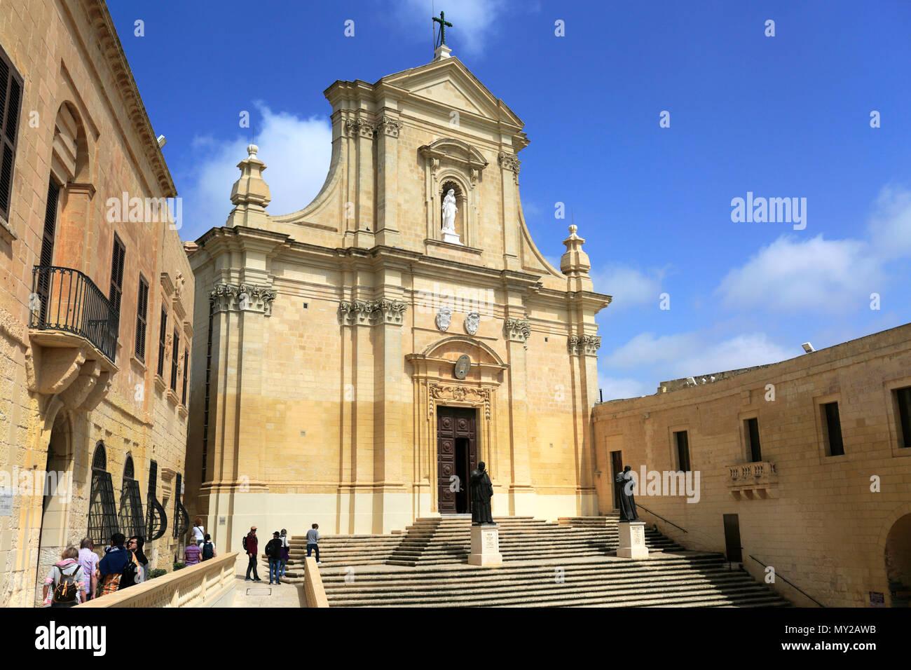 Summer view of the Cittadella, in Victoria City, Capital of the island of Gozo, Malta - Stock Image