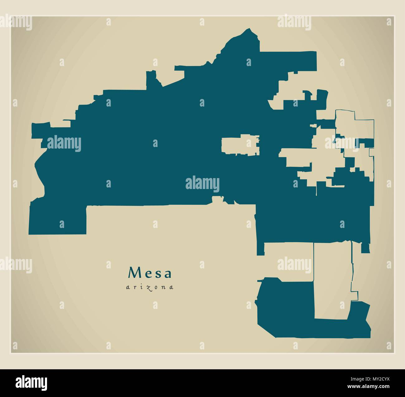 Modern City Map - Mesa Arizona city of the USA Stock Vector ...