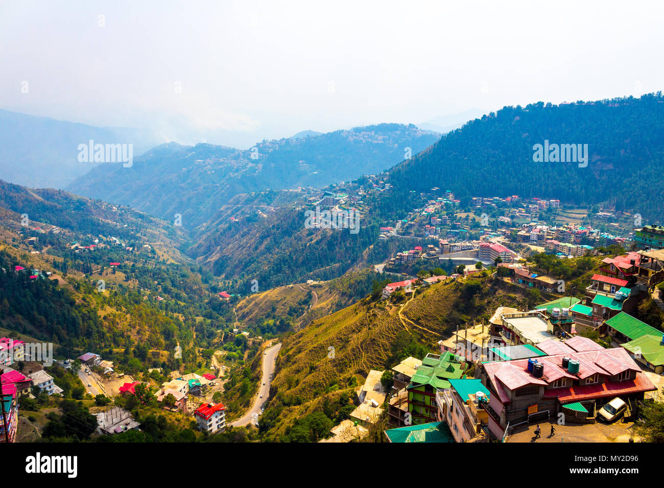 Mashobra is a lush green expanse in Himachal Pradesh, tucked away at a height of about 7700 feet. - Stock Image