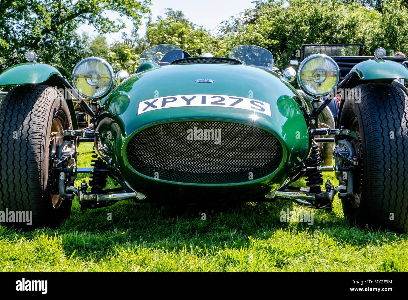 A British Racing Green Ronart Car Taken At A Classic Car Meet In - Classic car meets near me