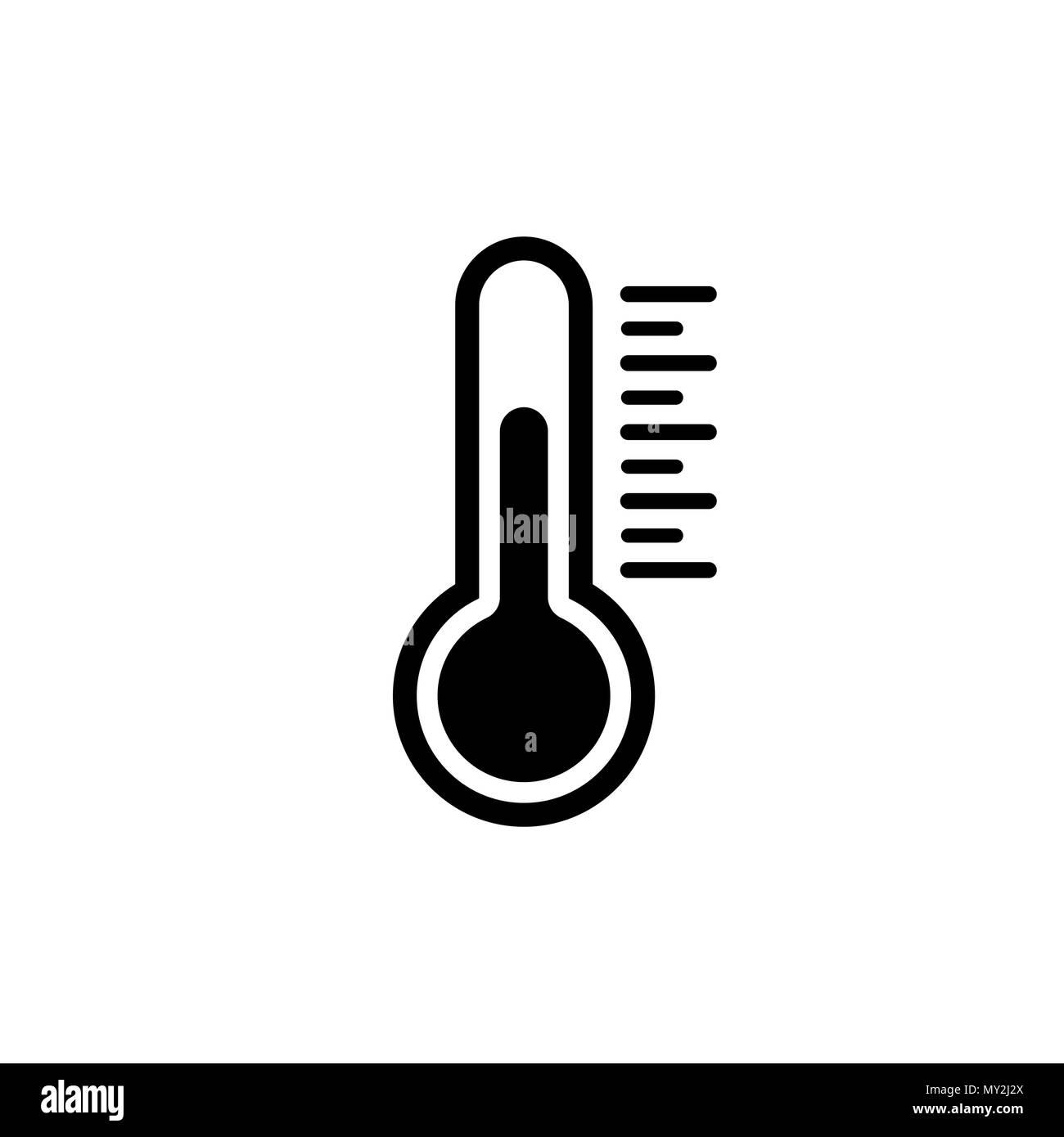 Temperature icon in flat style. Chill symbol - Stock Vector