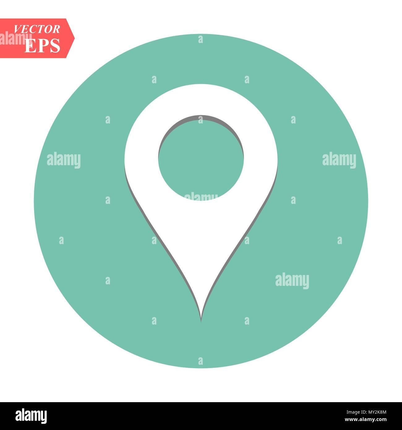 location icon vector pin sign gps symbol pointer navigation map