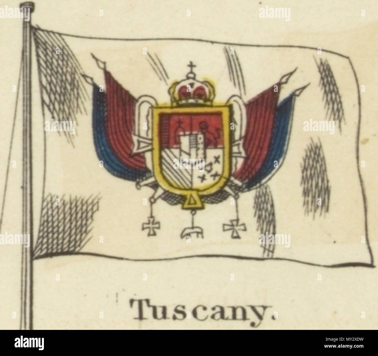 English Tuscany Johnsons New Chart Of National Emblems 1868g