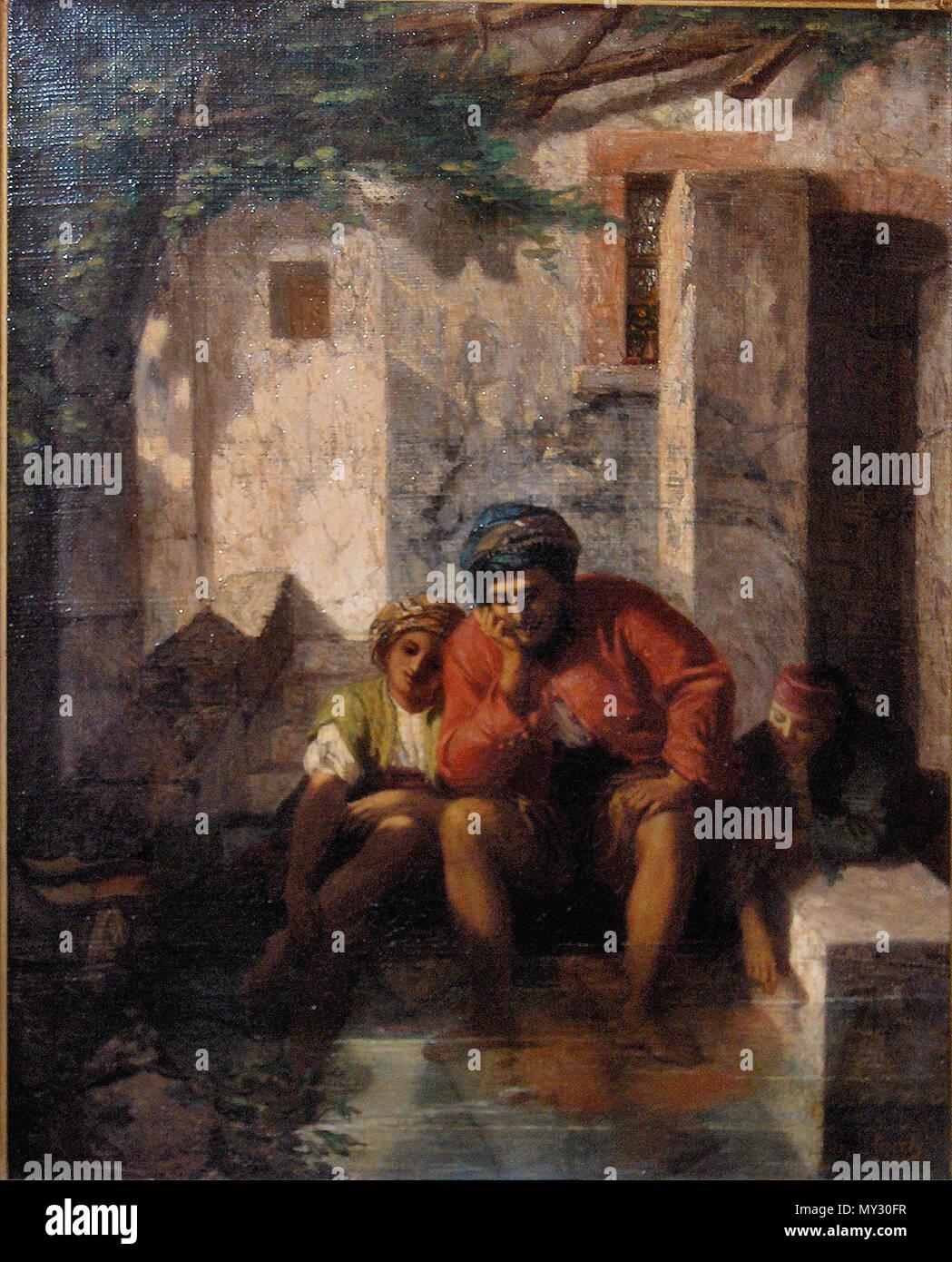 286 Jules Strack. Oriëntaalse personages - Stock Image