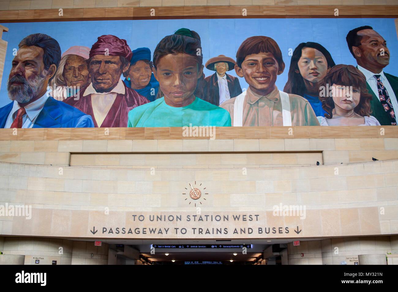 Union Station, Downtown LA. - Stock Image