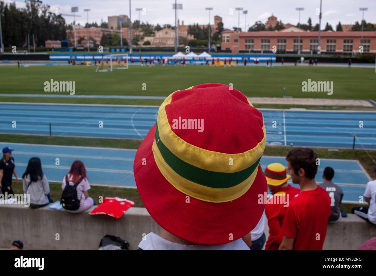 Wales Open Training Session at UCLA's Drake Stadium - Stock Image