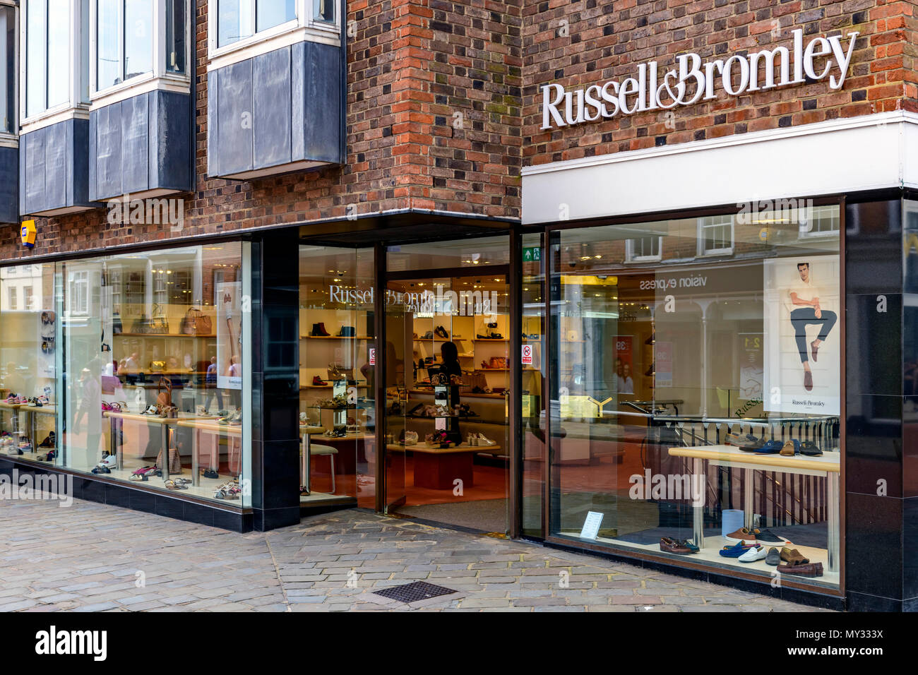 Russell & Bromley shopfront, Chichester UK - Stock Image