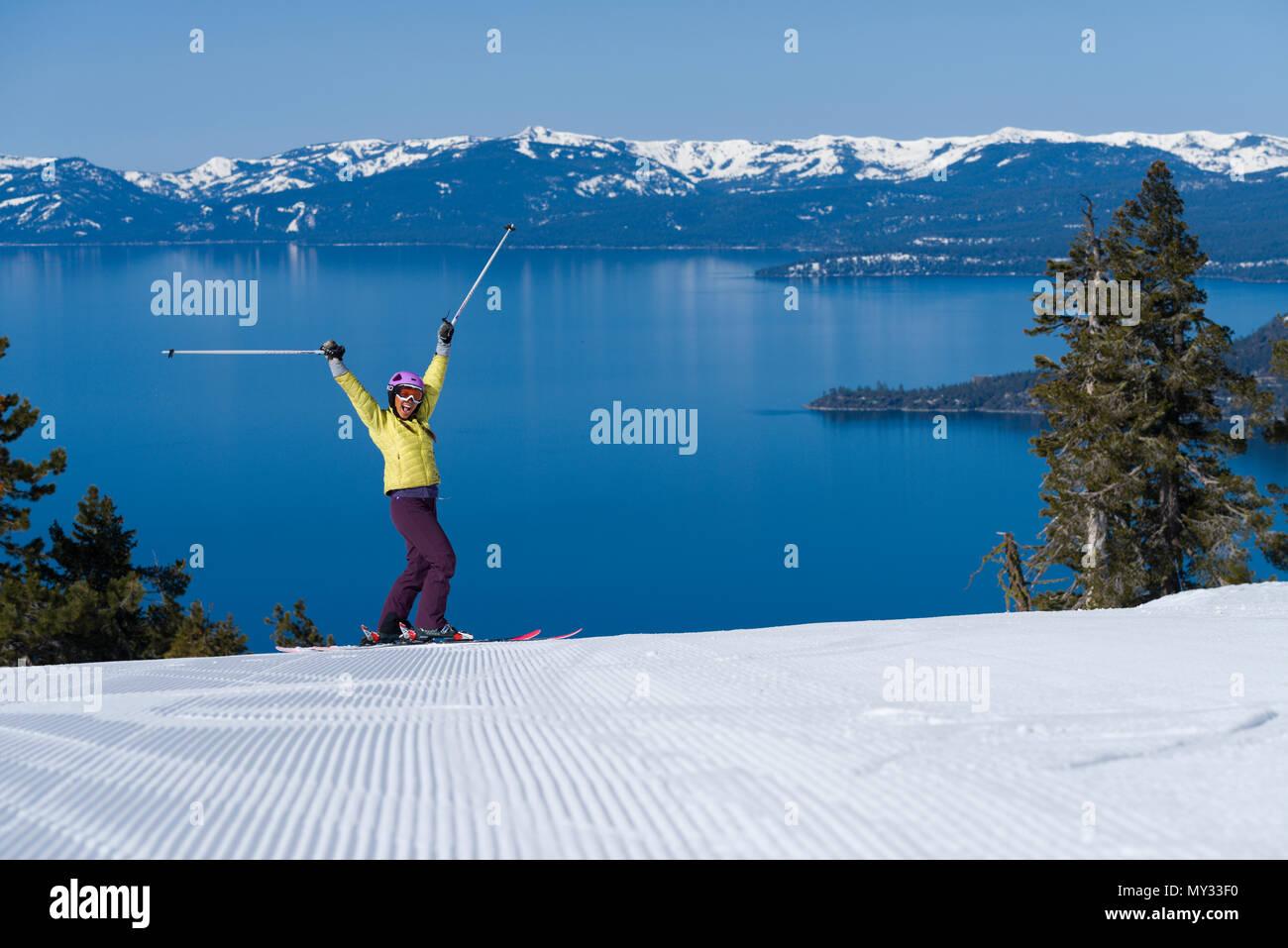 spring skiing diamond peak ski resort in incline village. the best