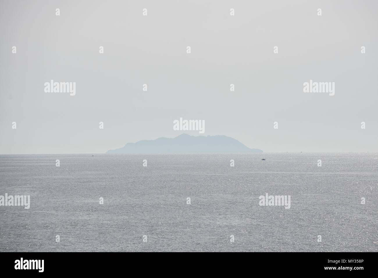 Island belonging to Arcipelago Toscano close to Livorno, Tuscany, Italy - Stock Image