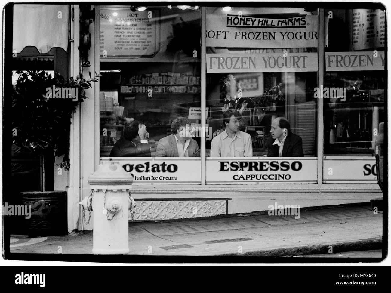 San Francisco USA Street life. 1988 - Stock Image