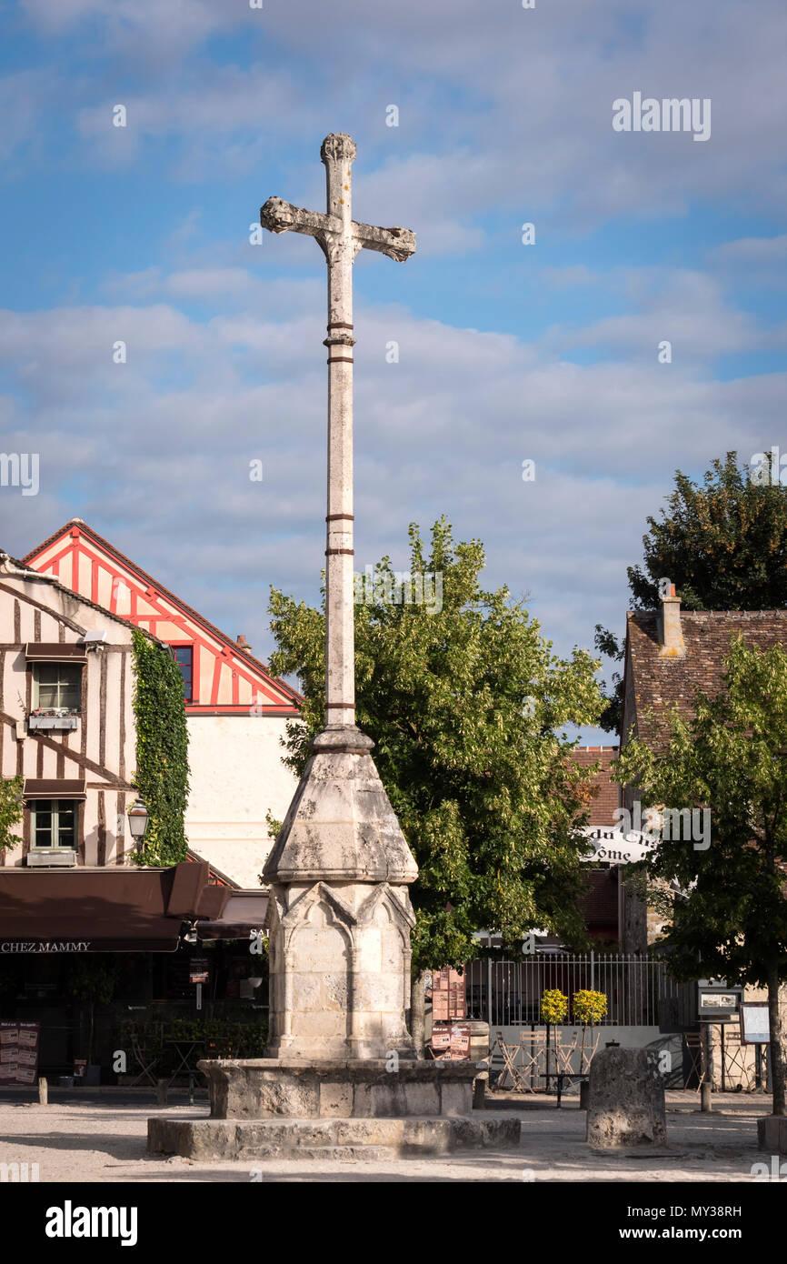 Place du Chatel Provins Seine-et-Marne Ile-de-France France - Stock Image