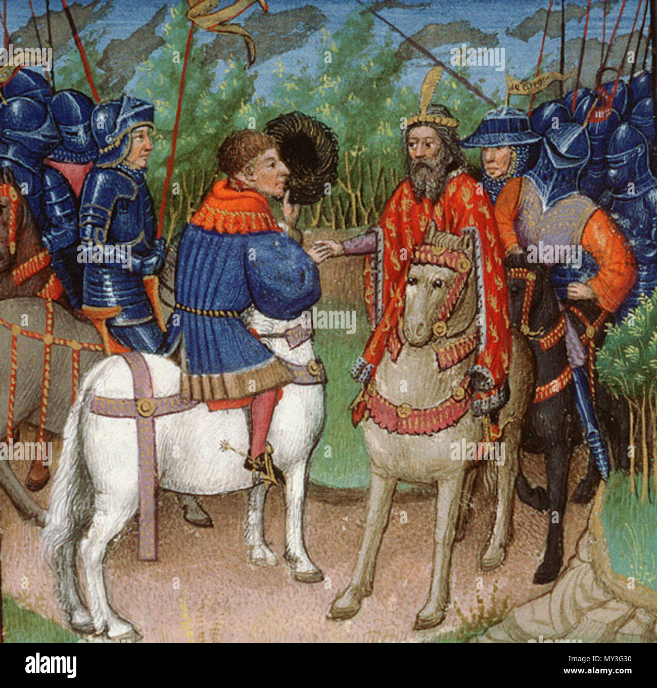 Cestina Godefroy Z Bouillonu 15th Century Anonymous 215 Godefroi Uhkral Stock Photo Alamy