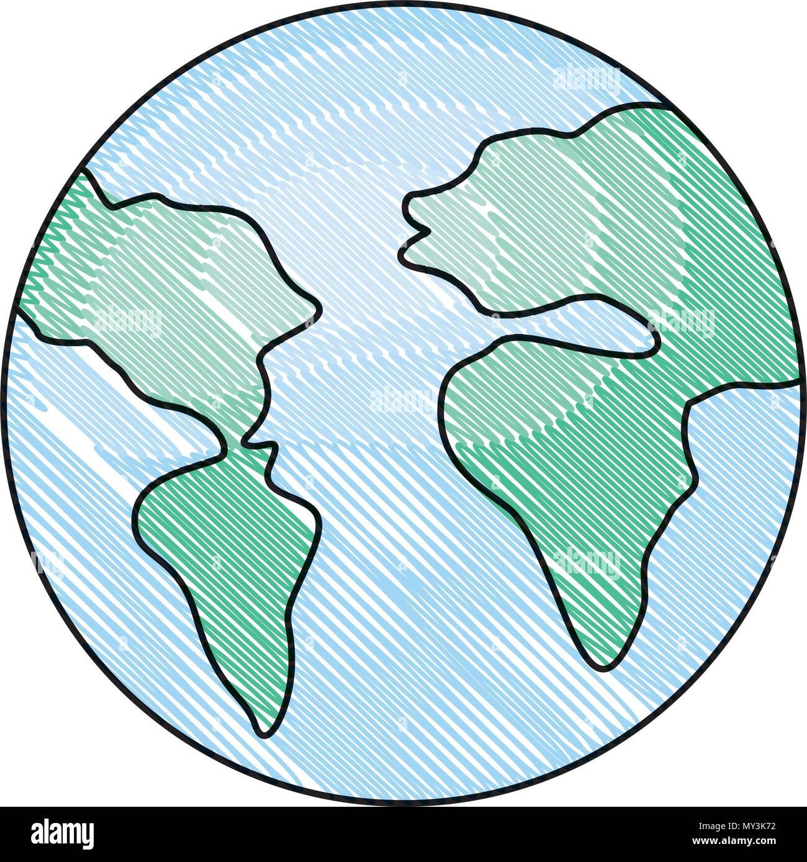 world planet earth icon - Stock Vector