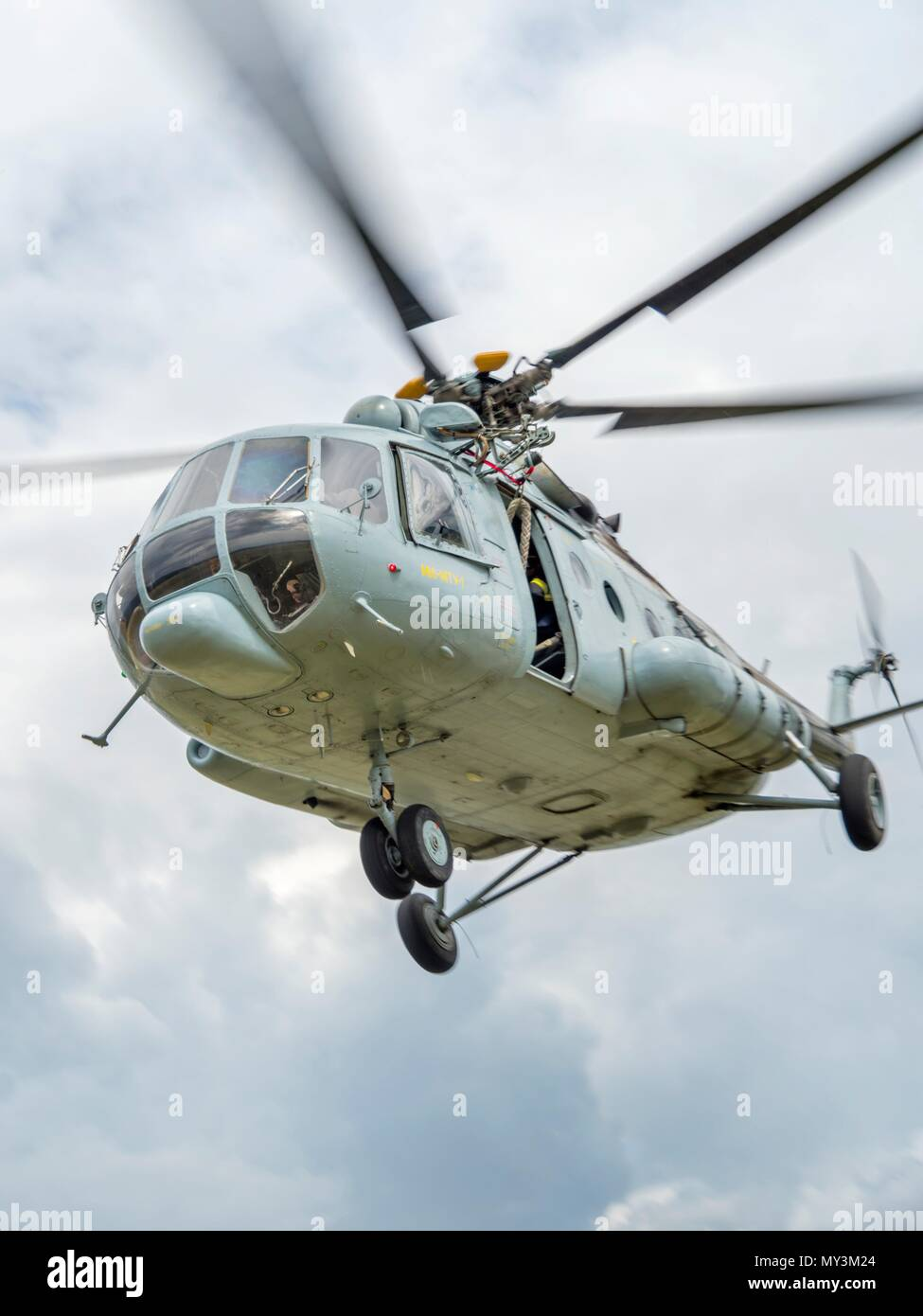 Croatia HRZ Croatian Air Force helicopter Mi-8 Mi8 MTV1 - Stock Image
