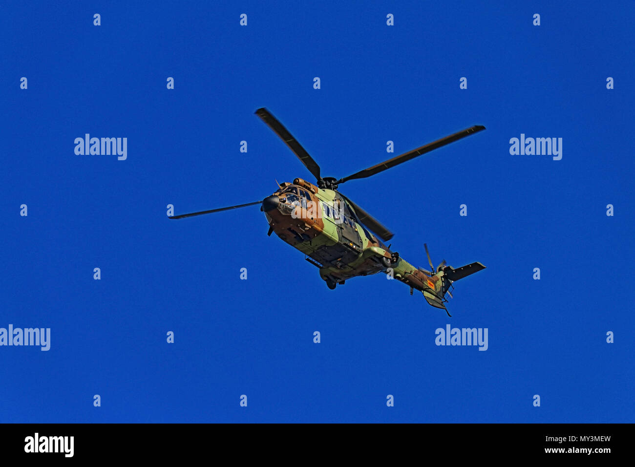 Military helicopter in flight - Stock Image