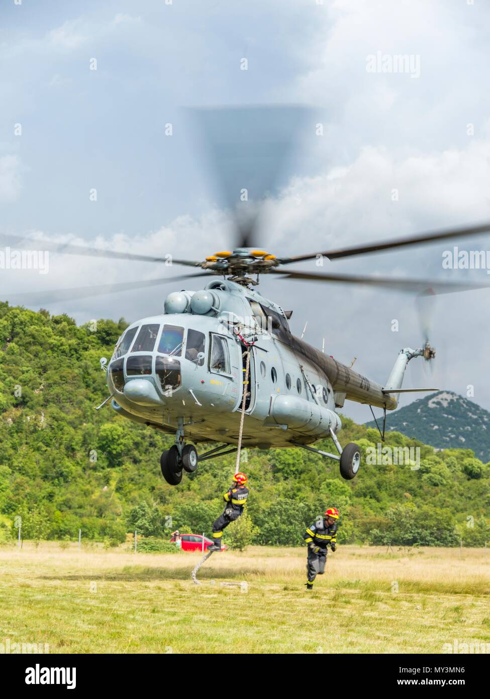 Croatia HRZ Croatian Air Force helicopter Mi-8 Mi8 MTV1Stock Photo