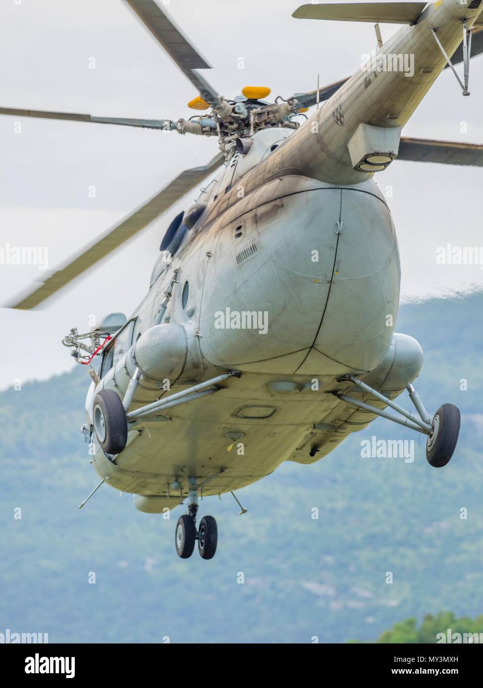 Croatia HRZ Croatian Air Force helicopter Mi-8 Mi8 MTV1 Stock Photo