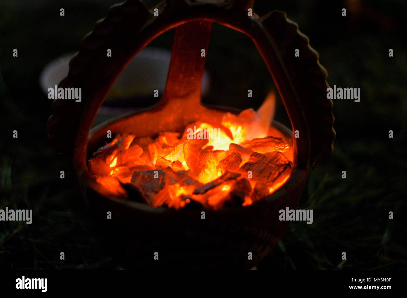 Incensory on Holy Week at Guatemala - Stock Image