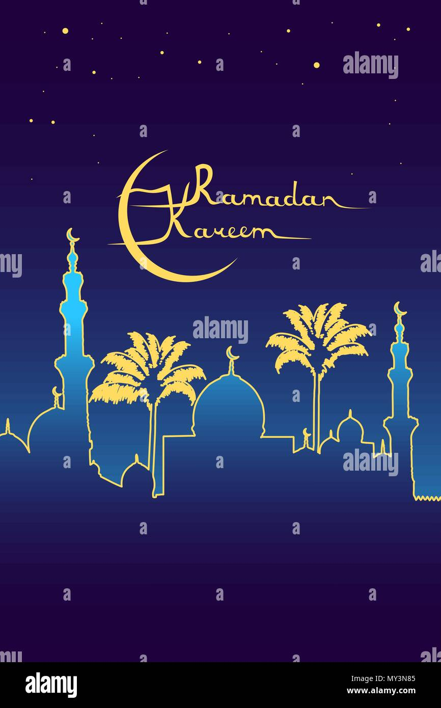 Ramadan Kareem Meaning Ramadan Is Generous Message Golden Mosque
