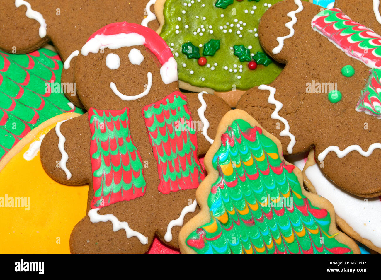 Frosted Gingerbread Man Stock Photos Frosted Gingerbread Man Stock