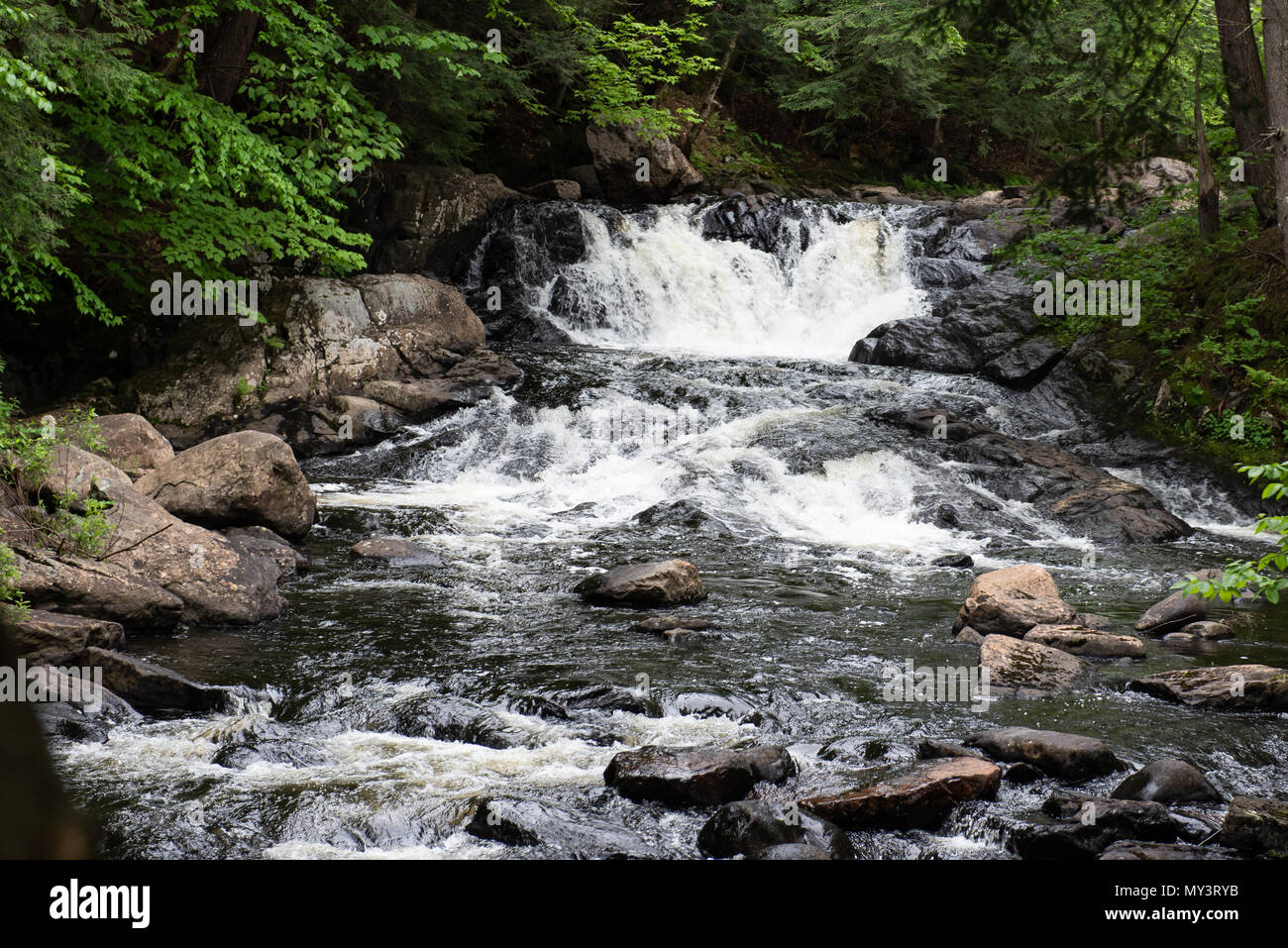 Christine Falls on the Sacandaga River in the Town of Wells, Adirondack Mountains, NY USA - Stock Image