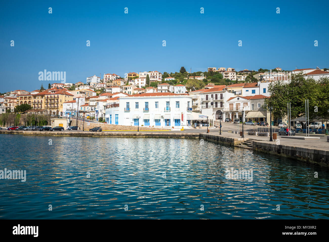 Old port of Pylos town in Messenia, Peloponnese, Greece - Stock Image