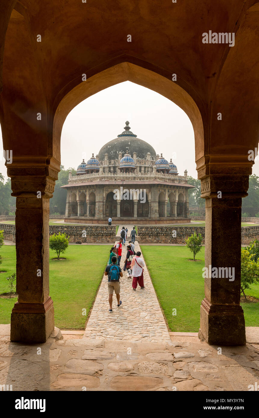 Humayuns Tomb in New Delhi - Stock Image