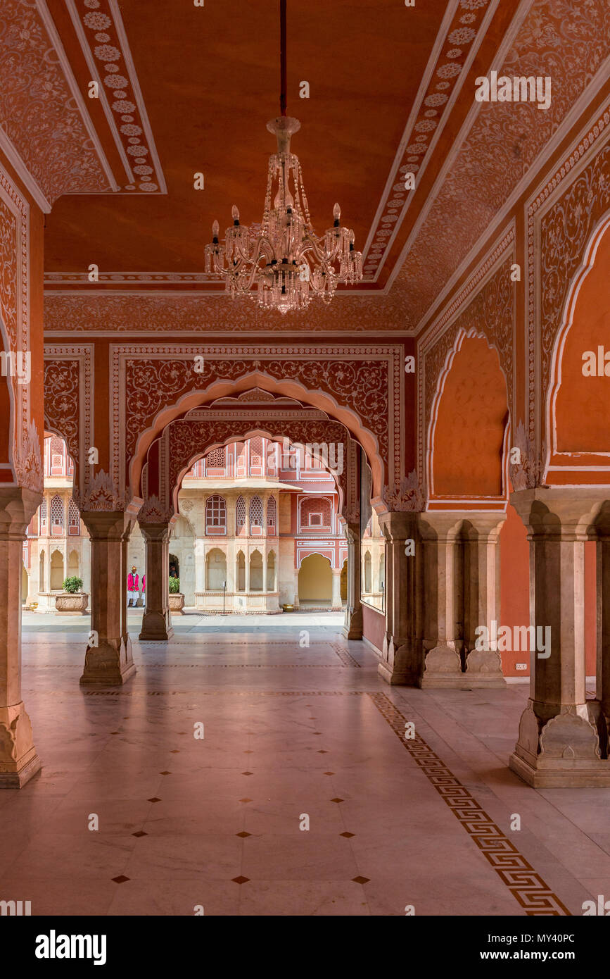 Jaipur City Palace - Stock Image