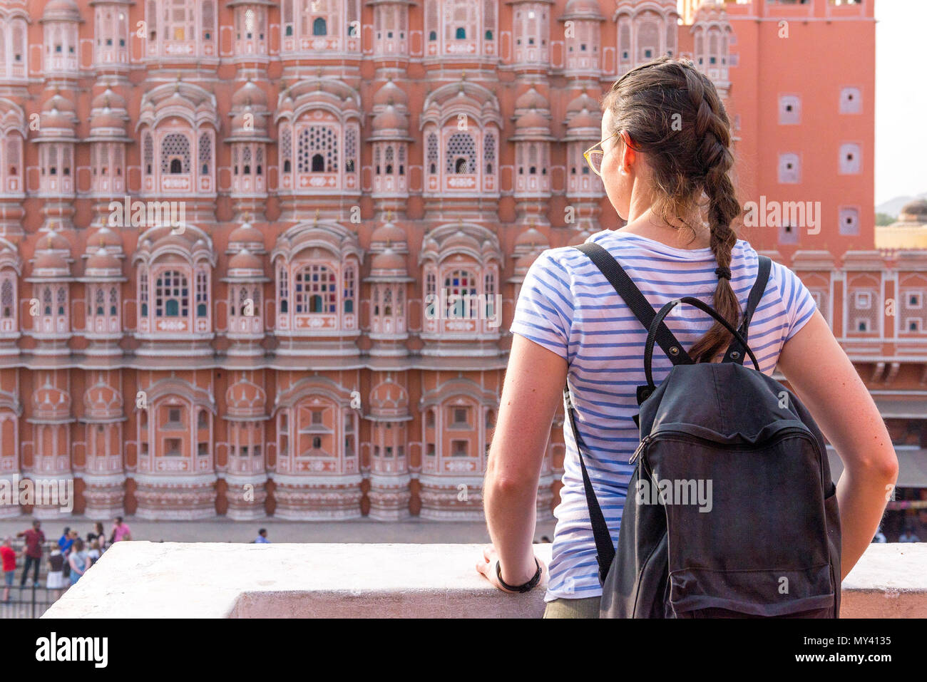 Hawa Mahal (Palast of winds) in Jaipur Stock Photo
