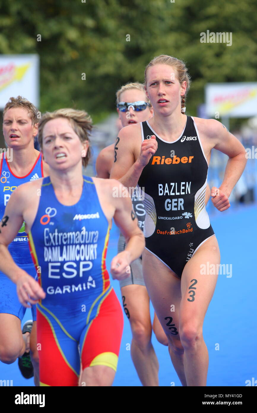 UK - Triathlon - Svenja Bazlen GER, Dextro Energy ITU World Championship - London, Hyde Park, 2010 - Stock Image