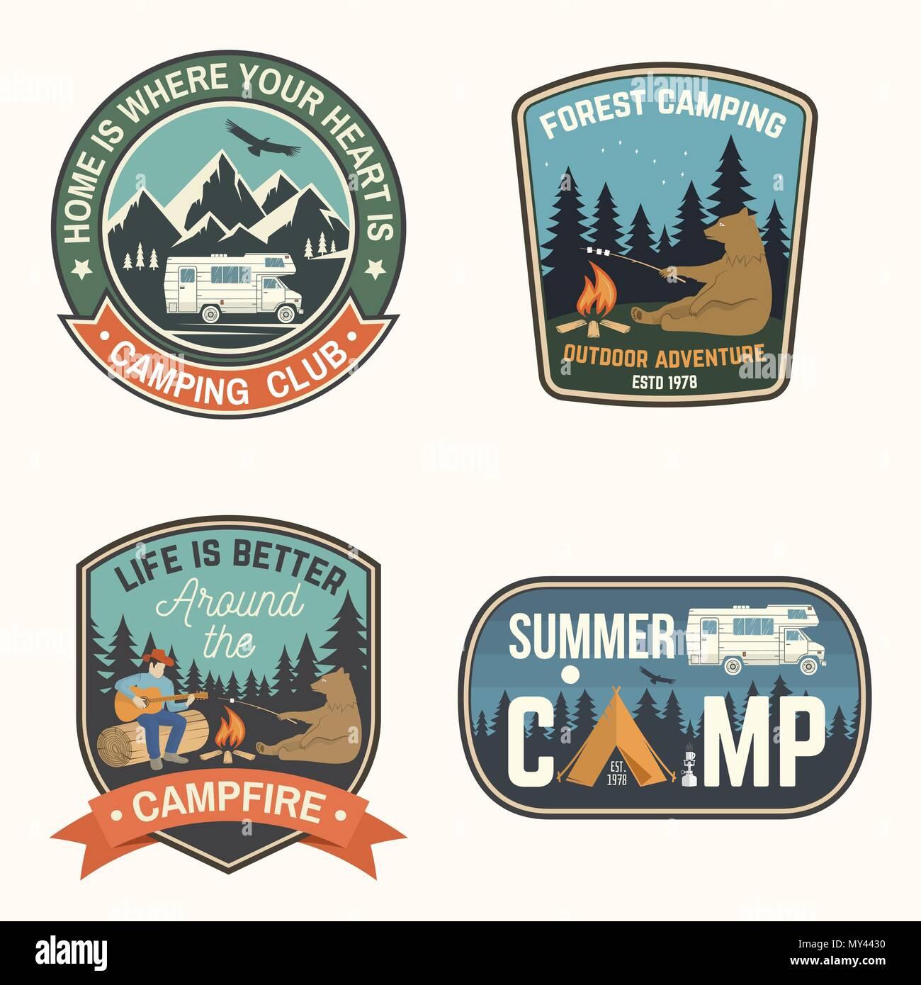 18006e61755a Summer camp. Vector illustration. Concept for shirt or logo