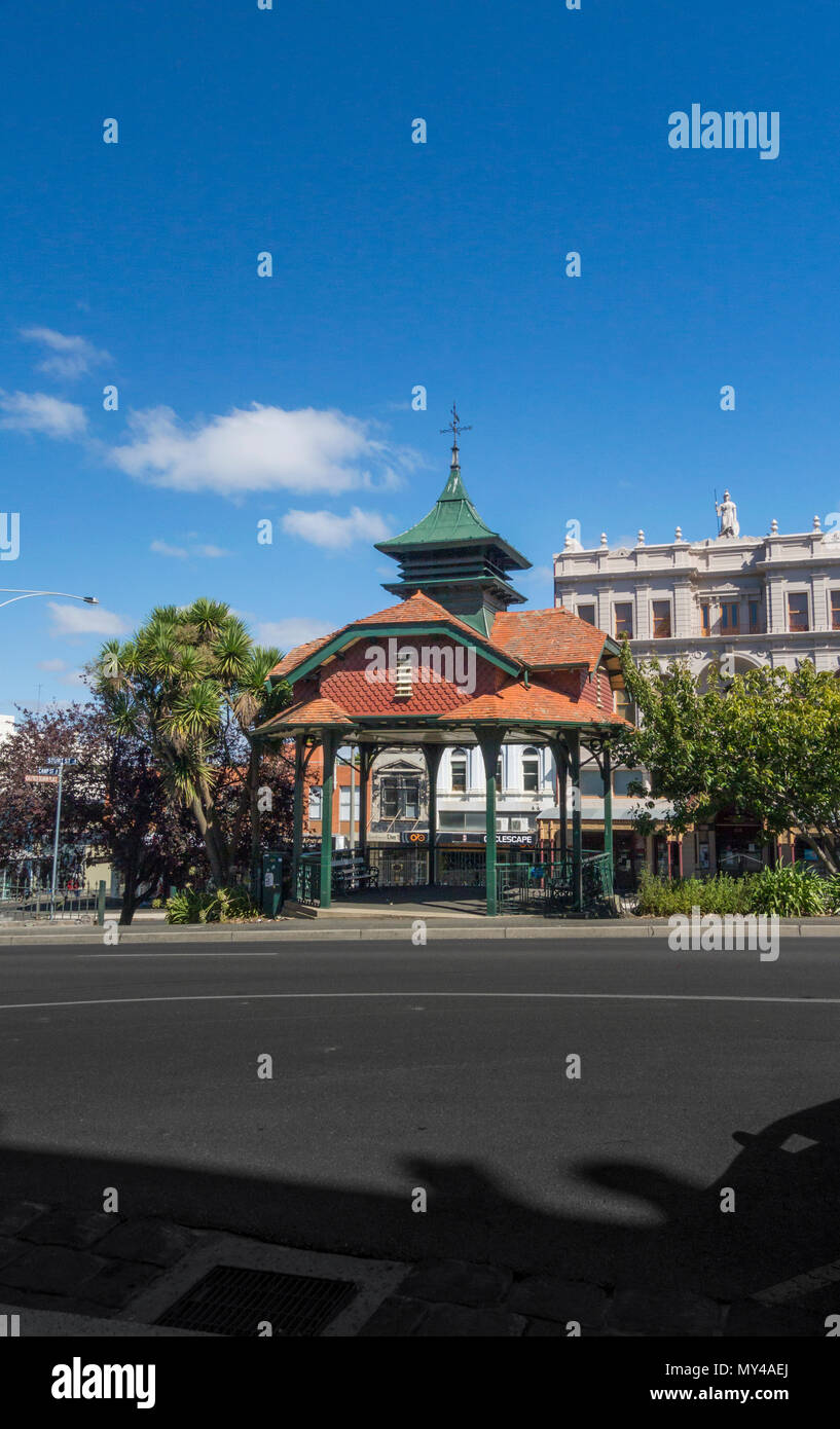 The Edwardian Titanic Memorial Bandstand for the musicians lost in the SS Titanic disaster, Ballarat, Victoria, Australia - Stock Image
