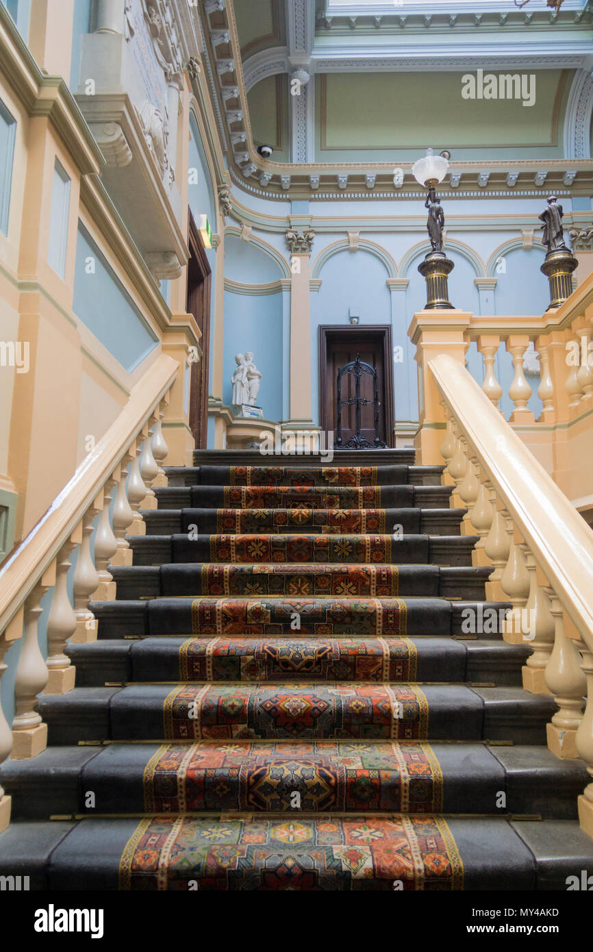 Merveilleux Ornate Staircase In The Town Hall In The City Of Ballarat, Victoria,  Australia