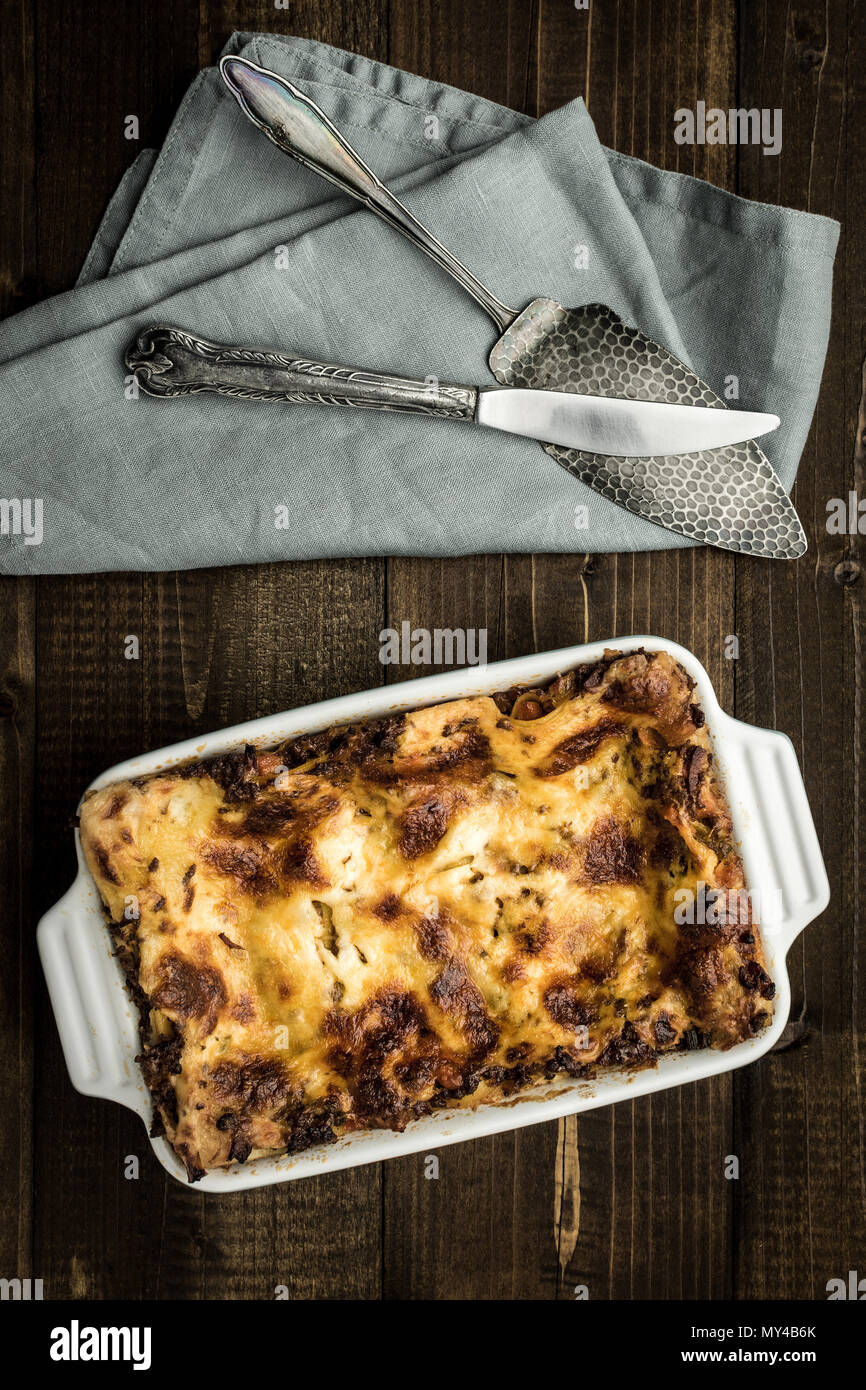 Lasagna With Minced Beef Bolognese Sauce And Mozzarella