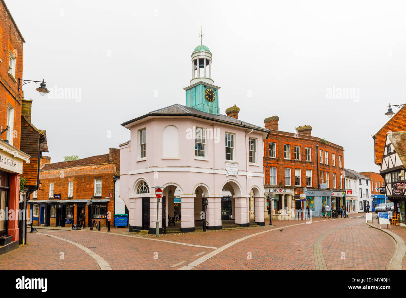 The Pepperpot, former town hall, Godalming, a small historic market town near Guildford, Surrey, southeast England, UK - Stock Image